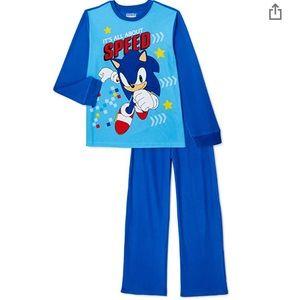 NWT SEGA Sonic the Hedgehog Pajamas Size 6/7